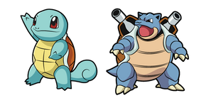Pokemon Squirtle and Blastoise