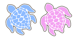 VSCO Girl Save the Turtles Curseur