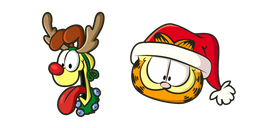 Christmas Garfield and Odie Curseur