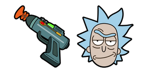 Rick and Morty Rick Sanchez Laser Gun Cursor