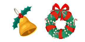 Christmas Bell and Wreath Curseur