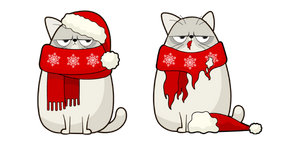 Christmas Cat and Costume Cursor