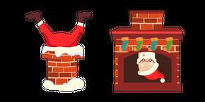 Christmas Santa Stuck in Chimney Cursor