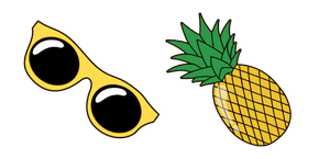 VSCO Girl Sunglasses and Pineapple Cursor