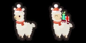 Cute Christmas Llama Cursor