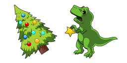 Christmas Tree and T-Rex Curseur