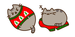 Pusheen and Ugly Holiday Sweater Curseur