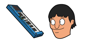 Bob's Burgers Gene Belcher and Piano Keyboard Cursor