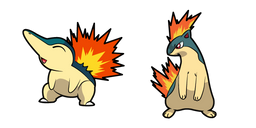 Pokemon Cyndaquil and Quilava Curseur