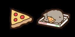 Pusheen and Pizza Curseur