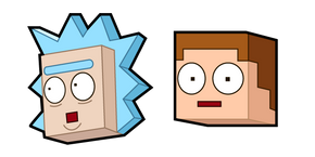 Rick and Morty Minecraft Cursor