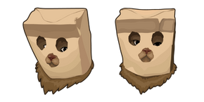 Cat in Paper Bag Mask Curseur