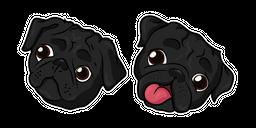 Black Pug Dog Cursor