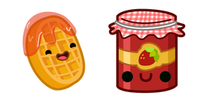 Cute Waffle and Jam Cursor