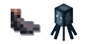 Minecraft Ink Sac and Squid Cursor