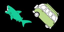 VSCO Girl Shark and Bus Cursor