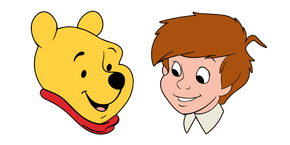Winnie the Pooh and Christopher Robin Curseur