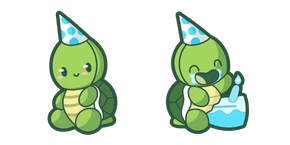 Cute Birthday Turtle Cursor