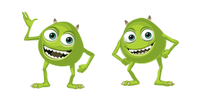 Two Eyed Mike Wazowski Meme Cursor