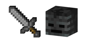 Minecraft Stone Sword and Wither Skeleton Cursor