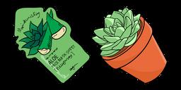 VSCO Girl Aloe Face Mask and Succulent Cursor