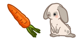 Курсор Cute Rabbit and Carrot