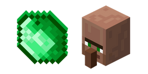 Курсор Minecraft Emerald and Villager