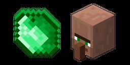 Minecraft Emerald and Villager Cursor