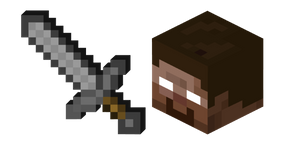 Minecraft Stone Sword and Herobrine Curseur