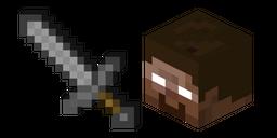 Minecraft Stone Sword and Herobrine Curseur