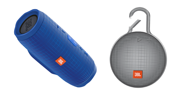 JBL Charge 3 and JBL CLIP 3