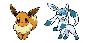 Pokemon Eevee and Glaceon