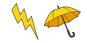 VSCO Girl Lightning and Umbrella Cursor