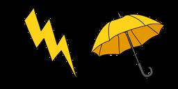 VSCO Girl Lightning and Umbrella Cursor