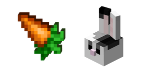 Minecraft Carrot and Rabbit