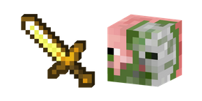 Minecraft Golden Sword and Zombie Pigman Cursor