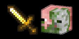 Minecraft Golden Sword and Zombie Pigman Curseur