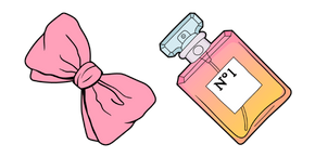 VSCO Girl Hair Bow and Perfume Cursor