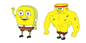 Increasingly Buff SpongeBob Cursor