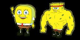 Increasingly Buff SpongeBob Cursor