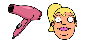 Bobs Burgers Gretchen and Hair Dryer Cursor