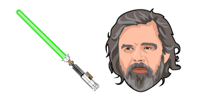 Курсор Star Wars Old Luke Skywalker Green Lightsaber