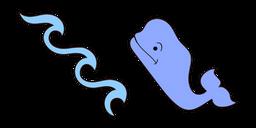 VSCO Girl Ocean Waves and Whale Curseur