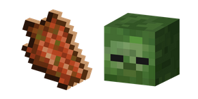 Minecraft Rotten Flesh and Zombie Curseur