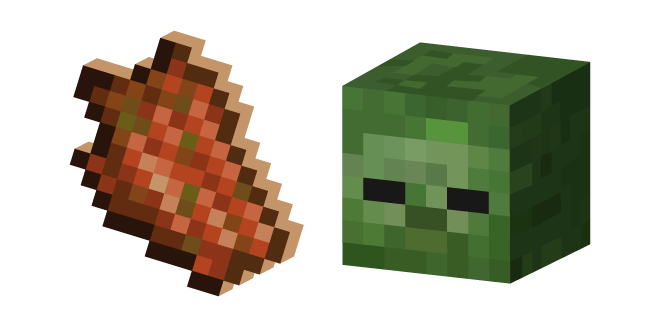 Minecraft Rotten Flesh and Zombie