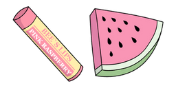 VSCO Girl Lip Balm and Watermelon Curseur