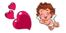 Valentine's Day Hearts and Cupid Cursor