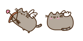 Курсор Pusheen Cupid