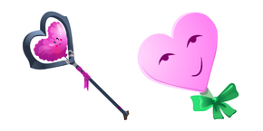 Fortnite Candyman Skin Heavy Heart Pickaxe Cursor