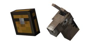 Minecraft Chest and Donkey Curseur